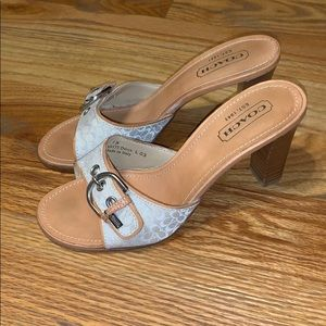 Coach Daryl Leather Logo Stacked Sandals Slides 7